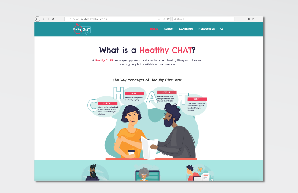 Healthy CHAT Landing Page